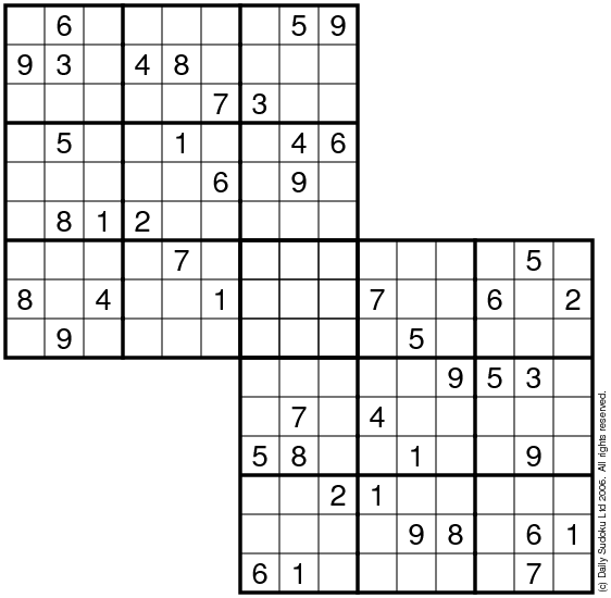 image regarding 6x6 Sudoku Printable referred to as The Each day SuDoku