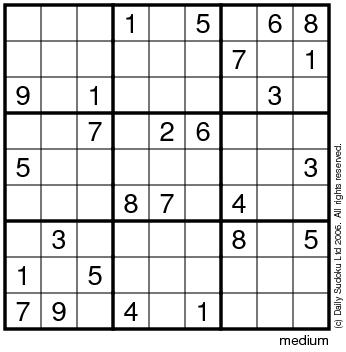 photo relating to Medium Sudoku Printable referred to as The Each day SuDoku