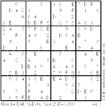image relating to Monster Sudoku Printable known as The Day-to-day SuDoku