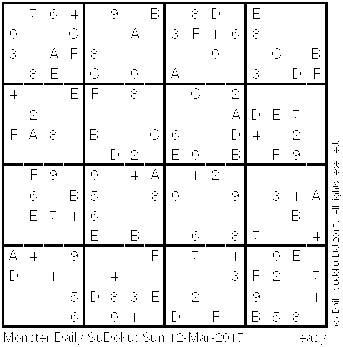 It is an image of Monster Monster Sudoku Printable
